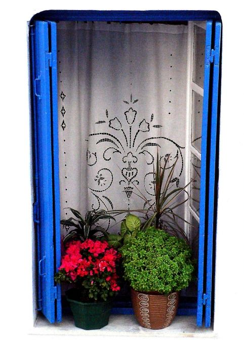 House window, Old Town, Alonnisos