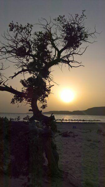 Sunset at Sarakiniko Beach, Elafonisos