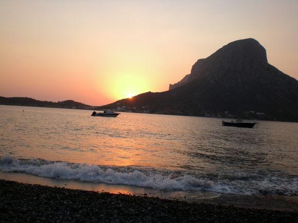 view of Telendos from Massouri beach