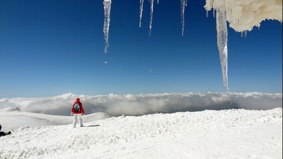 At the Top of Helmos Mountain