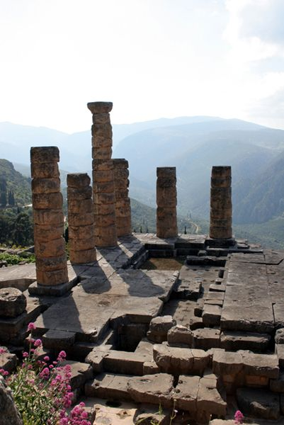 My favorite place in all of Greece.  The ancient temple of delphi.  I learned so much about this place in school and the mysticism that surrounds it is apparent when you are there.