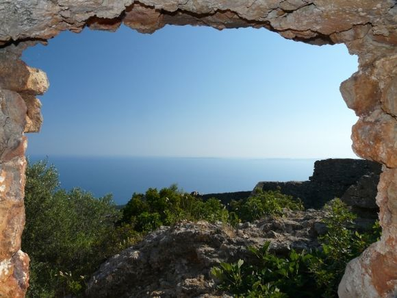 View from the Ali Pasa castle to Paxos and Antipaxos