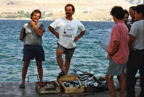 Fishermen in Agia Marina