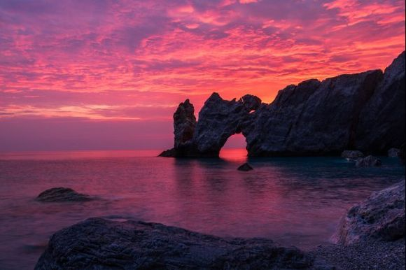 Lalaria beach at sunrise
