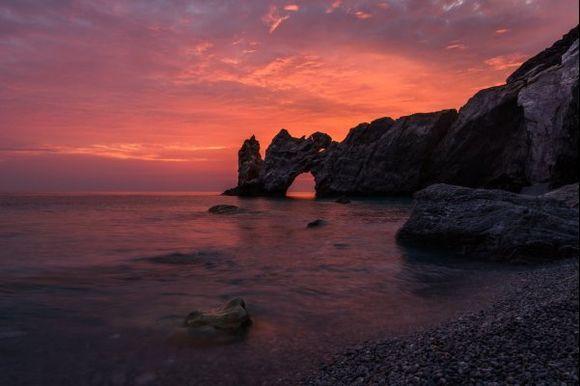 lalria beach at sunrise