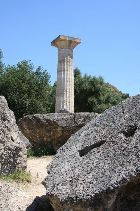 temple of Zeus and fallen column remains