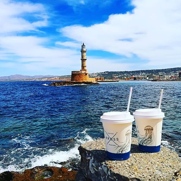 Coffee with a lighthouse view!