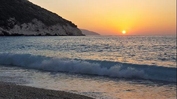 Sunset at Myrtos Beach!