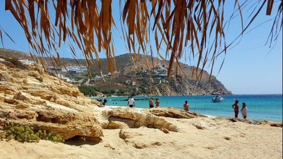 Elia beach, from under mi umbrella