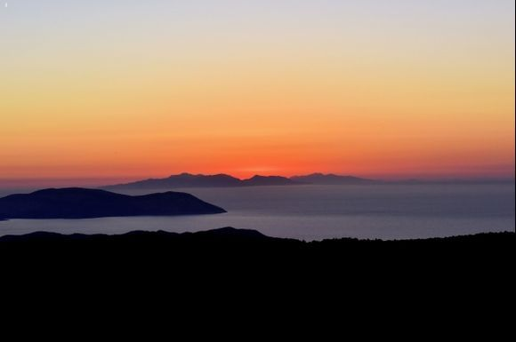 sunset near Kamiros
