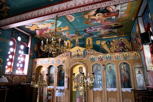 inside the beautiful church of Ag Dimitrios