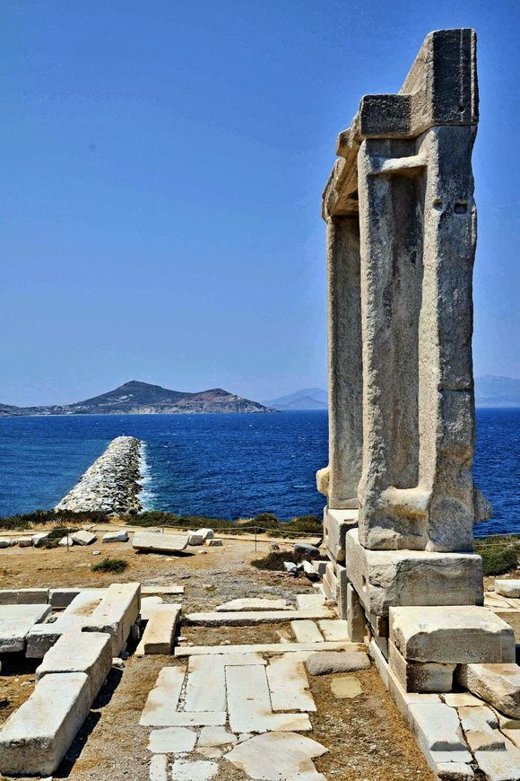 the sign to the island of Paros