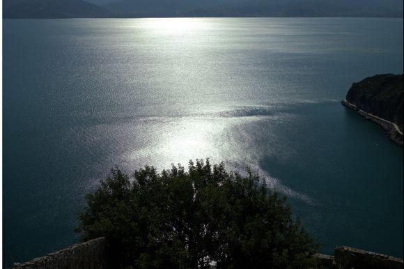 beautiful silvery sunset, seen from Palamidi