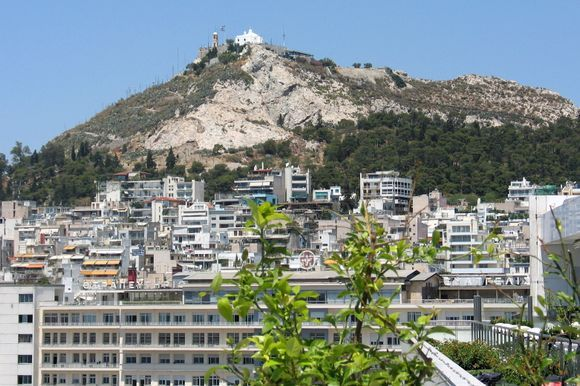 Lykavittos hill with St. George's chapel