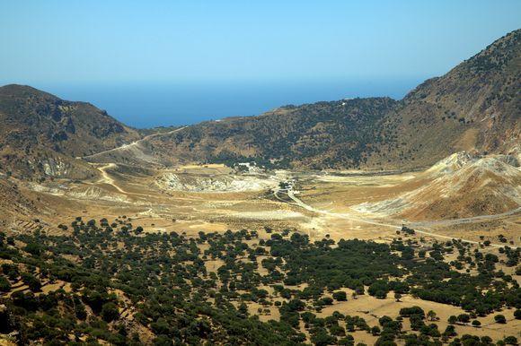 an overlook about the caldera