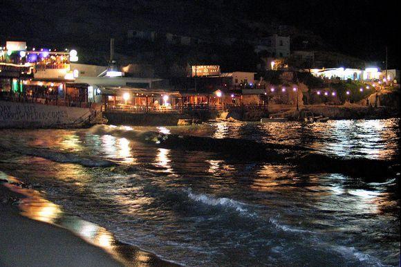 Matala's colours at night