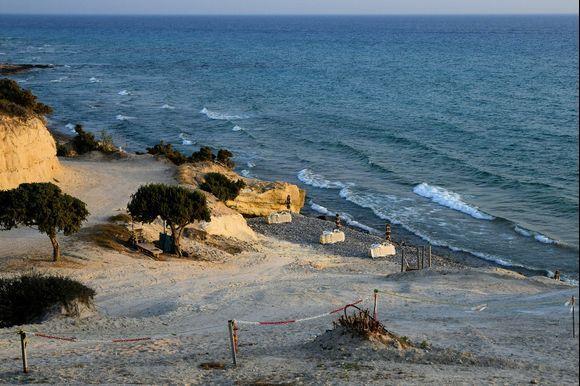 at Agios Theologos Beach before sunset