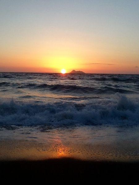 Sunset on Komos beach