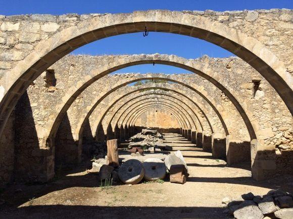 Old Olive Factory near Vamos apokoronas region