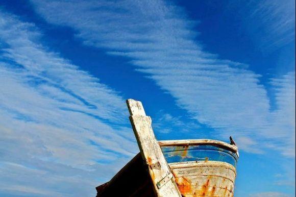 Abandoned under a blue sky