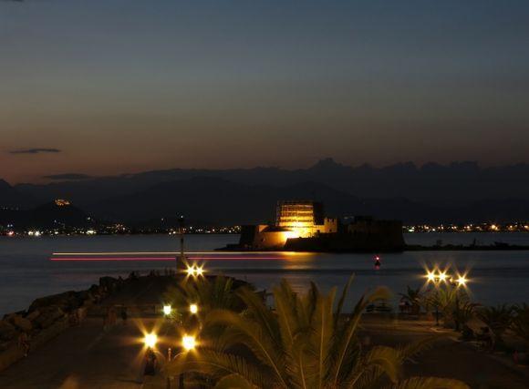 Bourtzi at night