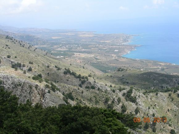 ...a view of frangokastello area from the mountain, from imbros..
