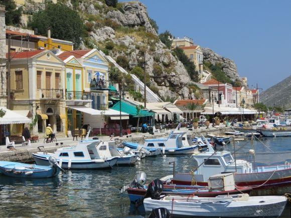 The beautiful main port of Symi