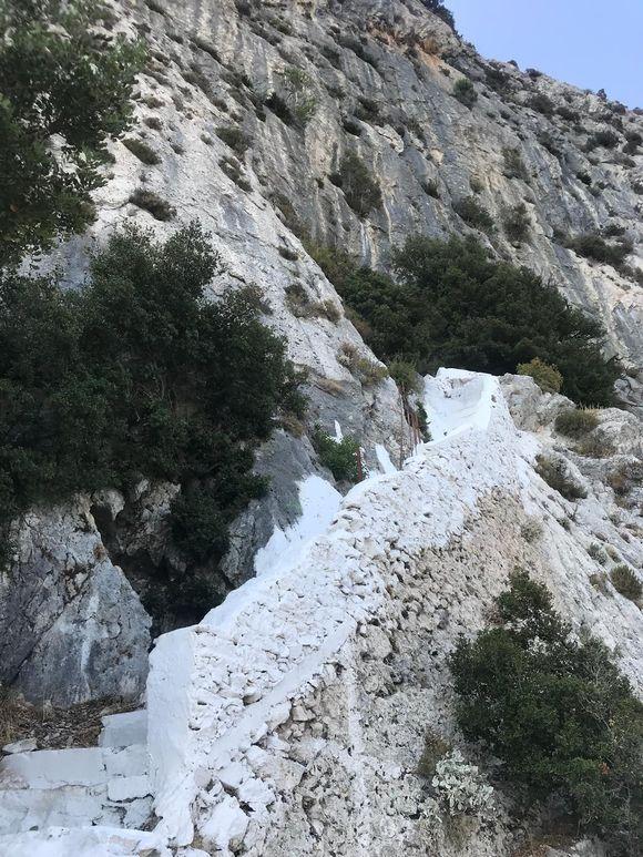 Steps to Cave of  Pythagoras