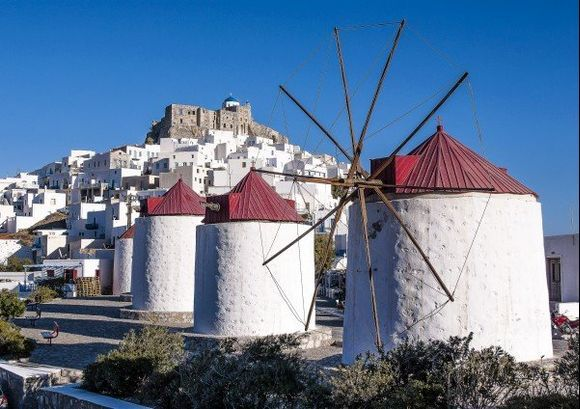 The windmills and the castle