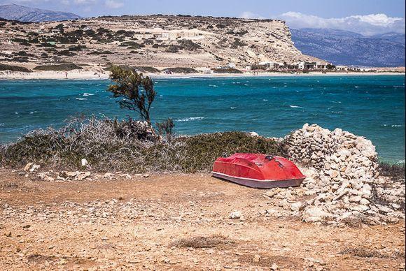 Sheltered boat