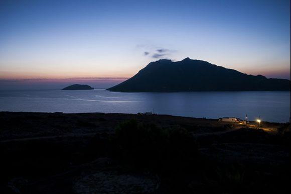 Nikouria island after sunset