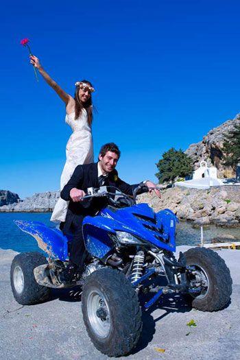 Kosmas and Valentina\'s wedding at St Paul\'s Bay, Lindos, Rhodes.