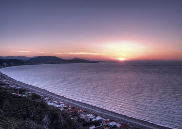 Sunset over Ixia Bay