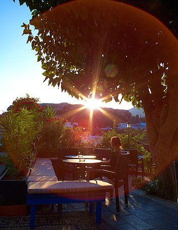 Sunset at the Rainbird Bar, Lindos, Rhodes