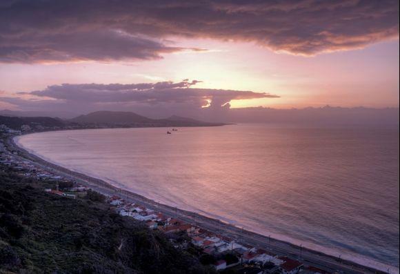 Ixia Bay at Sunset