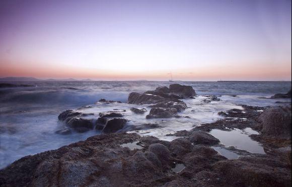 Naxos sunset near Hora