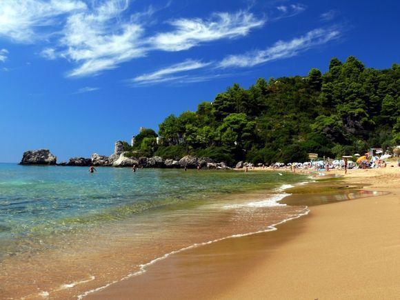 Glifada beach, Corfu
