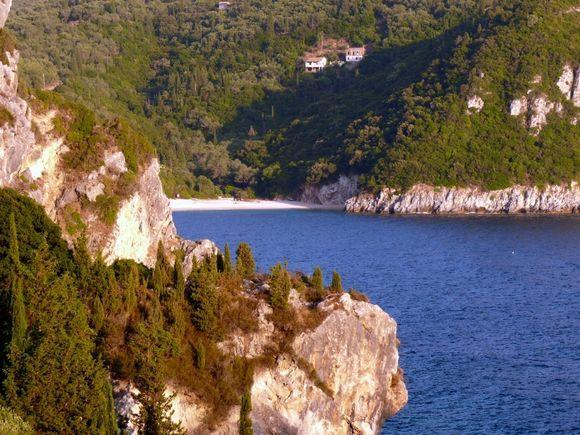 Rovinia Beach,Corfu - isolated/hidden beach
