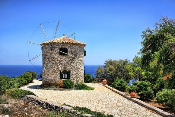 Windmill at Keri Zakynthos.