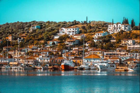 View from the ship on the way to Skiathos, August 2019
