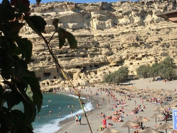 Caves at Matala Beach