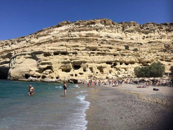 Caves at Matala Beach