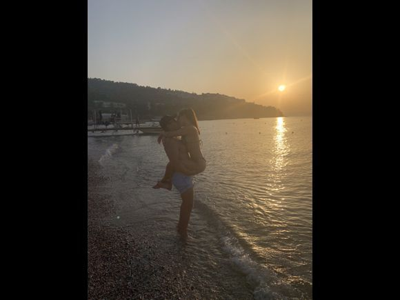 Greek sunset over Kaiki Beach