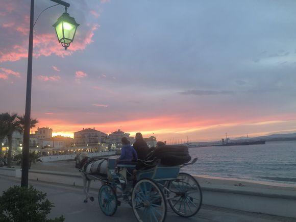 Sunset over Agio Mama