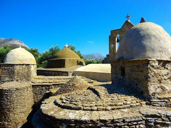 The Church of Panagia Drossiani (Virgin Mary), a short distance from Moni