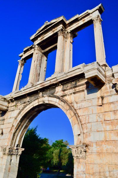 View of the Hadrian's Arch