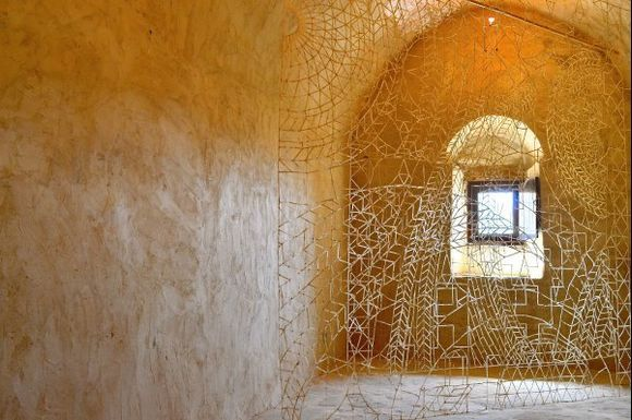 Art exhibition 2015 FALLING APART (The fragile works of Nikos Alexiou made of paper and reed)