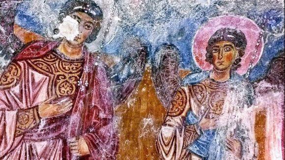 Frescoes inside Agios Georgios's church