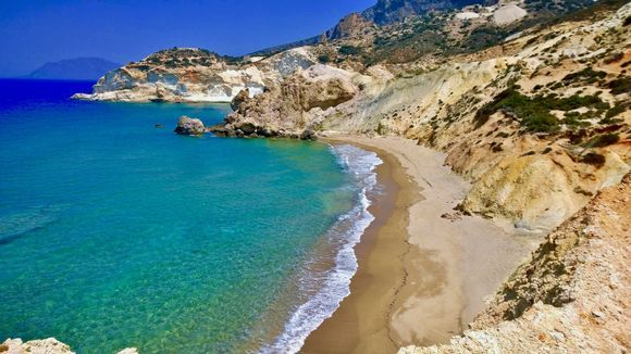Agios Ioannis: The golden-white sandy beach bears the name of the nearby monastery. There are actually three consecutive beaches that are connected one to another by small paths.