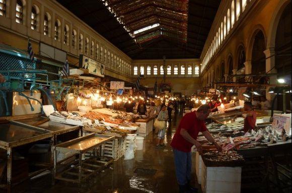 The Athens fish market